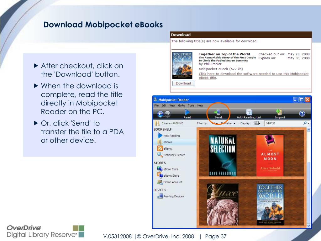 Download Mobipocket eBooks