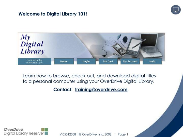 Welcome to Digital Library 101!
