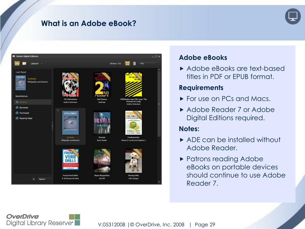 What is an Adobe eBook?