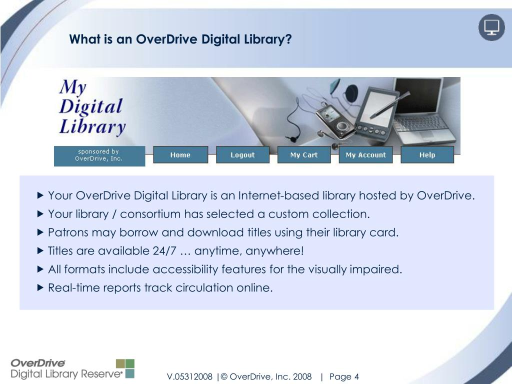 What is an OverDrive Digital Library?
