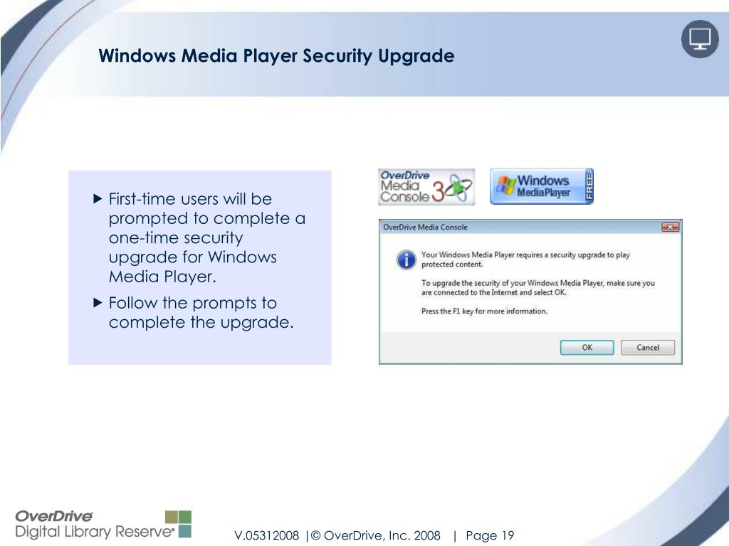 Windows Media Player Security Upgrade