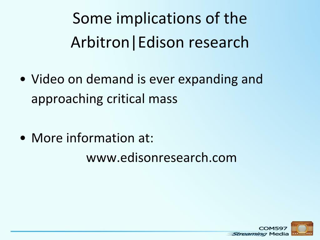Some implications of the Arbitron|Edison research