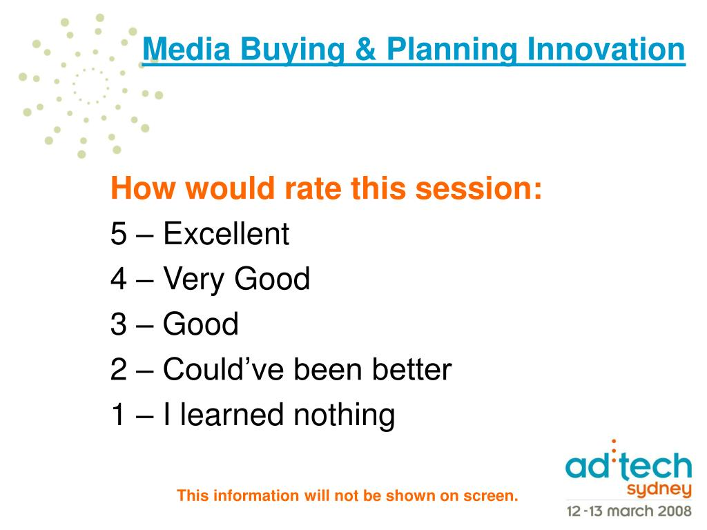 How would rate this session: