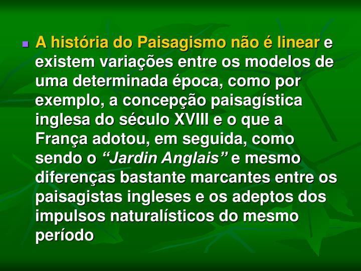 A história do Paisagismo não é linear
