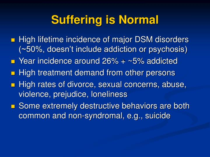Suffering is Normal
