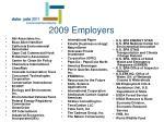2009 employers