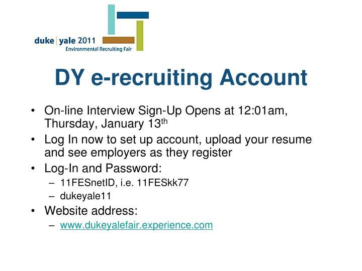 DY e-recruiting Account