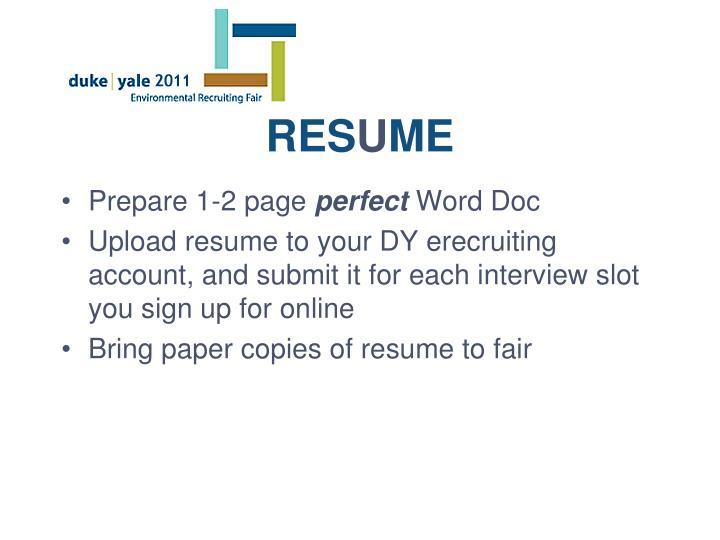 Prepare 1-2 page