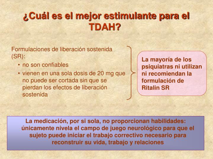 La mayoría de los psiquiatras ni utilizan ni recomiendan la formulación de Ritalin SR