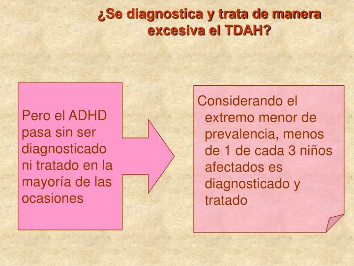 ¿Se diagnostica y trata de manera excesiva el TDAH?