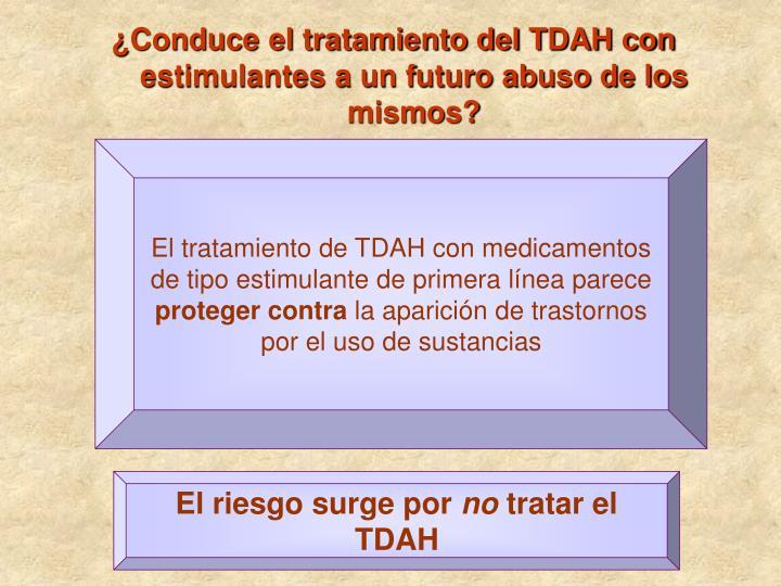 ¿Conduce el tratamiento del TDAH con estimulantes a un futuro abuso de los mismos?