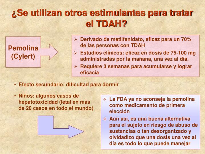 ¿Se utilizan otros estimulantes para tratar el TDAH?
