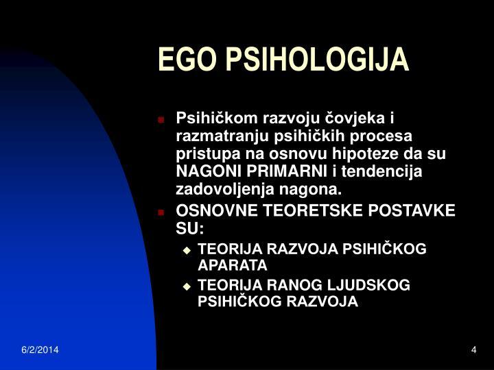 EGO PSIHOLOGIJA