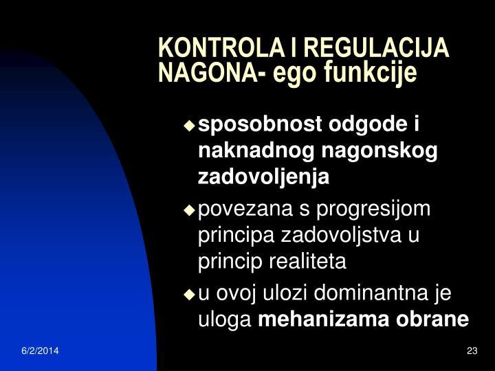 KONTROLA I REGULACIJA NAGONA
