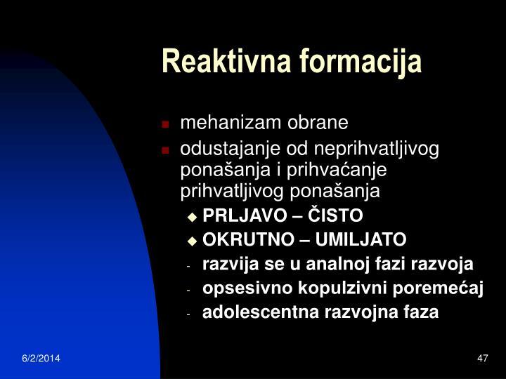 Reaktivna formacija
