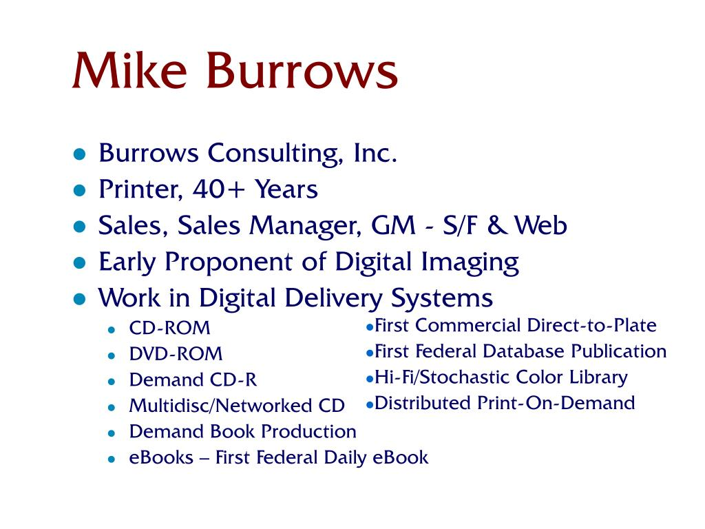 Mike Burrows