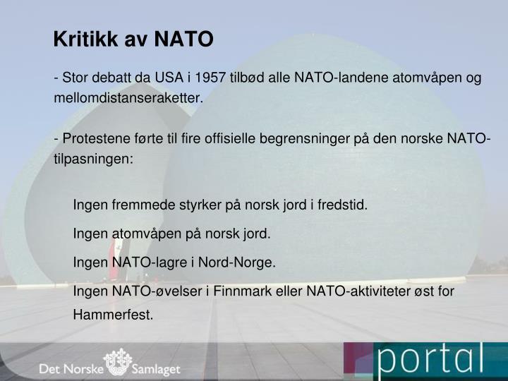 Kritikk av NATO
