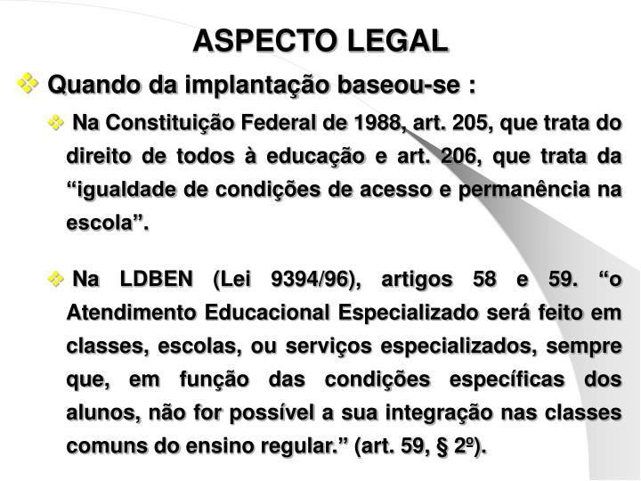 ASPECTO LEGAL