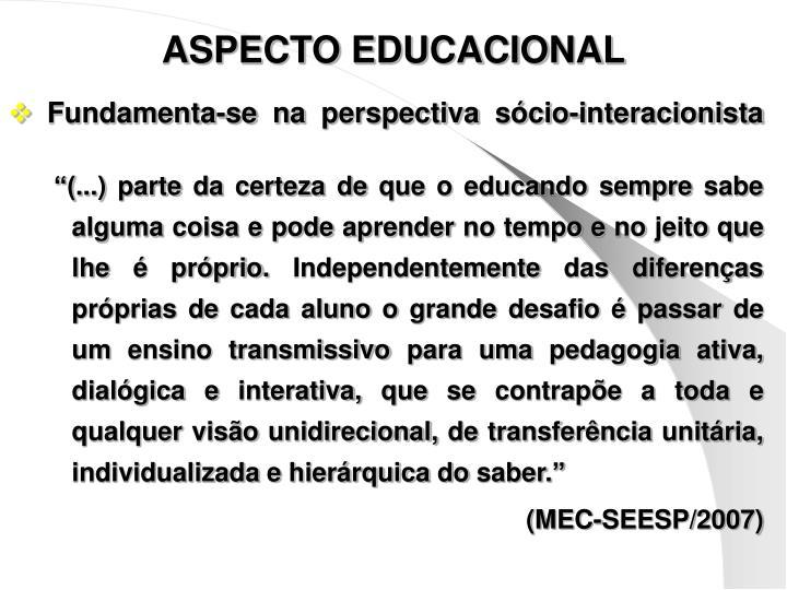 ASPECTO EDUCACIONAL