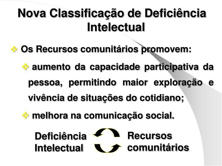 Nova Classificação de Deficiência Intelectual