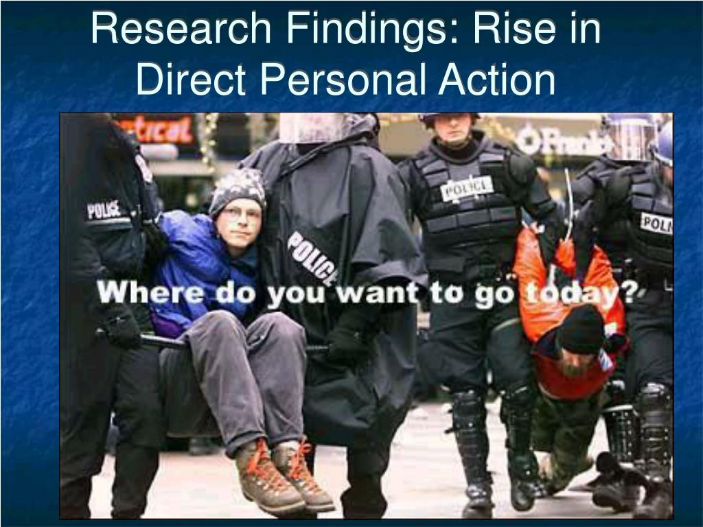 Research Findings: Rise in Direct Personal Action