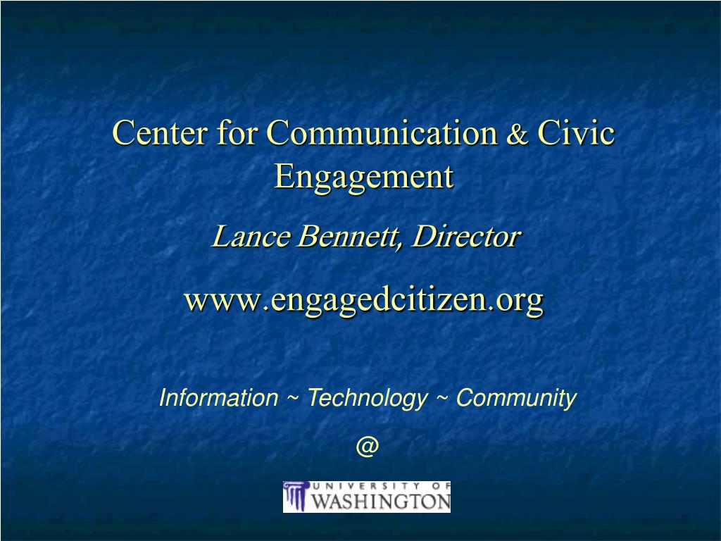 Center for Communication & Civic Engagement
