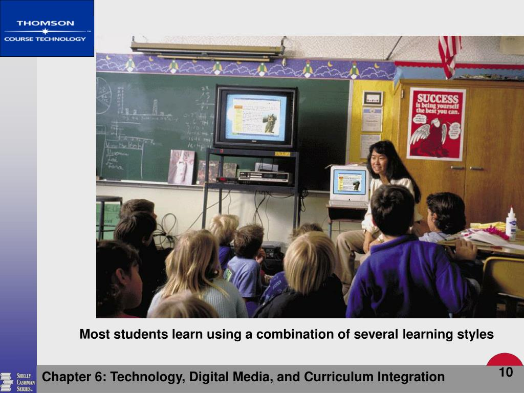 Most students learn using a combination of several learning styles