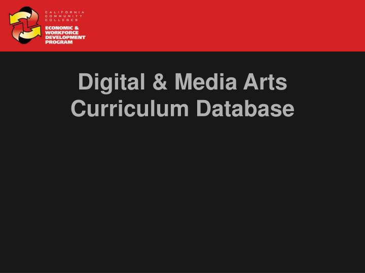 Digital & Media Arts
