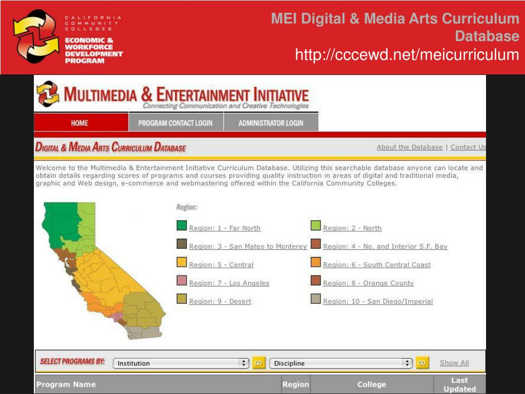 MEI Digital & Media Arts Curriculum Database