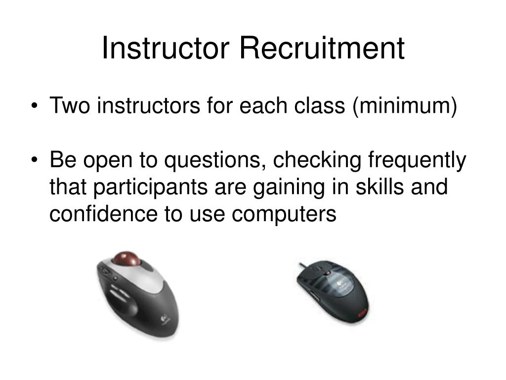 Instructor Recruitment