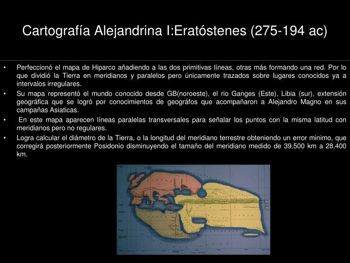 Cartografía Alejandrina I:Eratóstenes (275-194