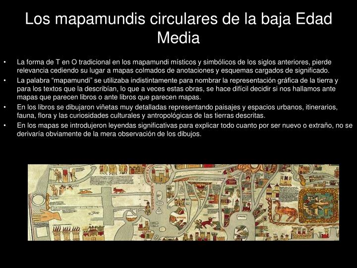 Los mapamundis circulares de la baja Edad Media
