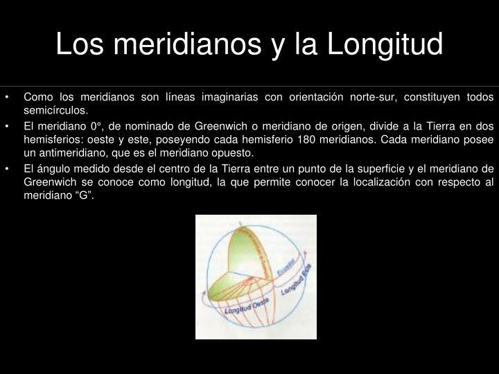 Los meridianos y la Longitud