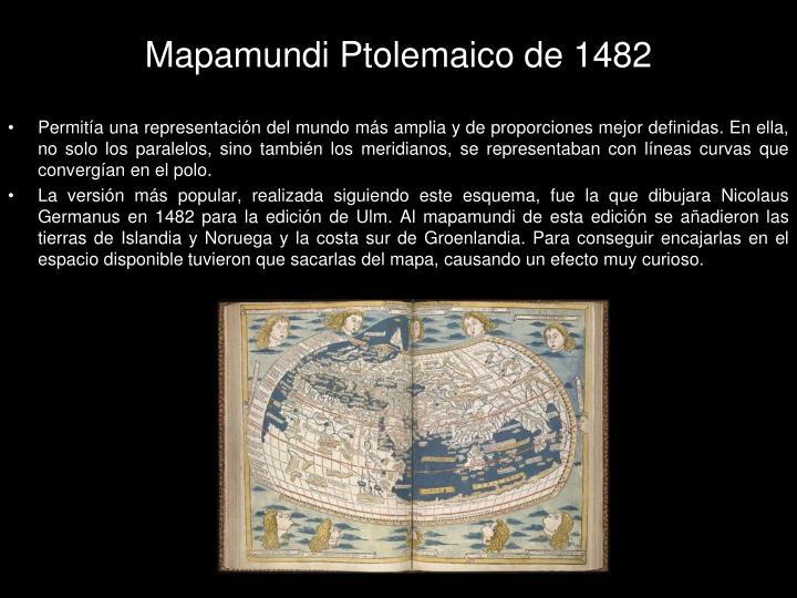 Mapamundi Ptolemaico de 1482