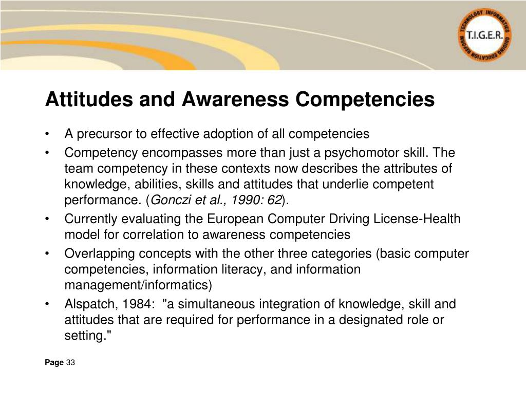 Attitudes and Awareness Competencies