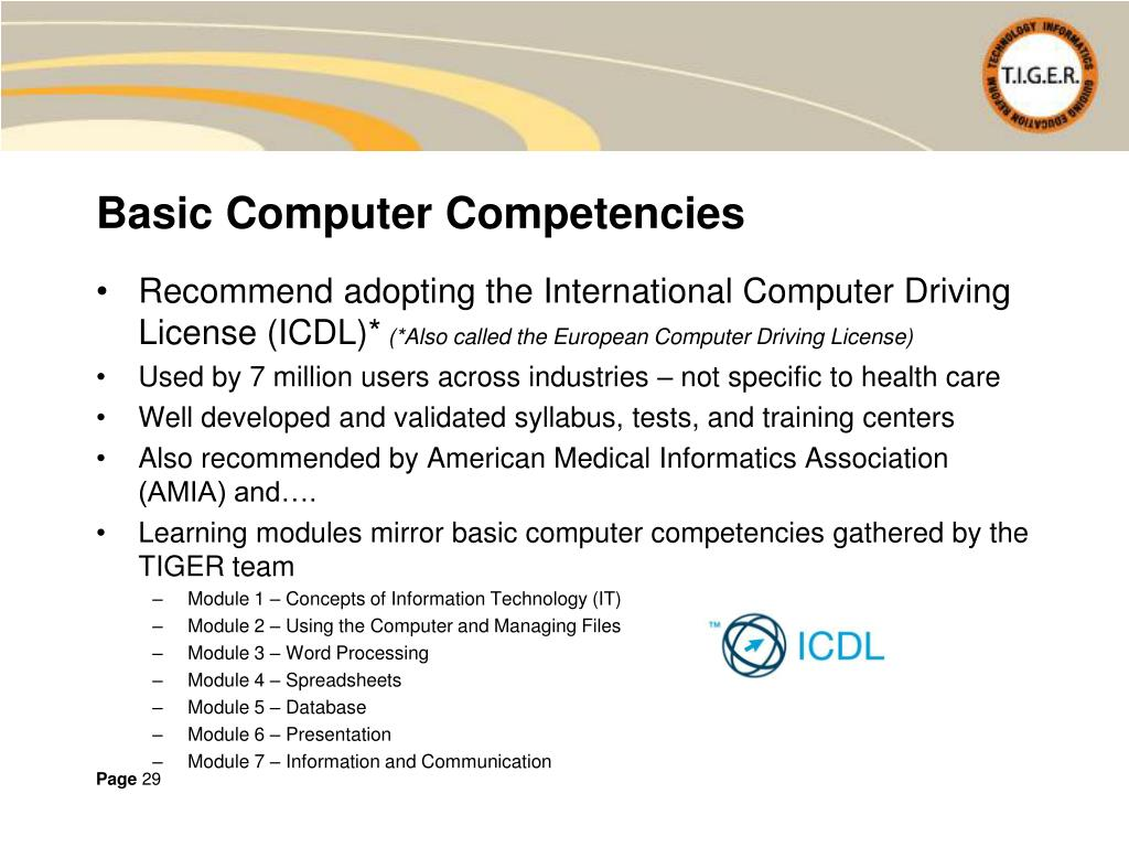 Basic Computer Competencies