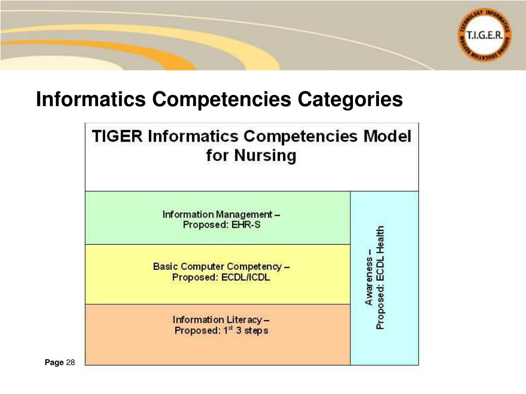 Informatics Competencies Categories