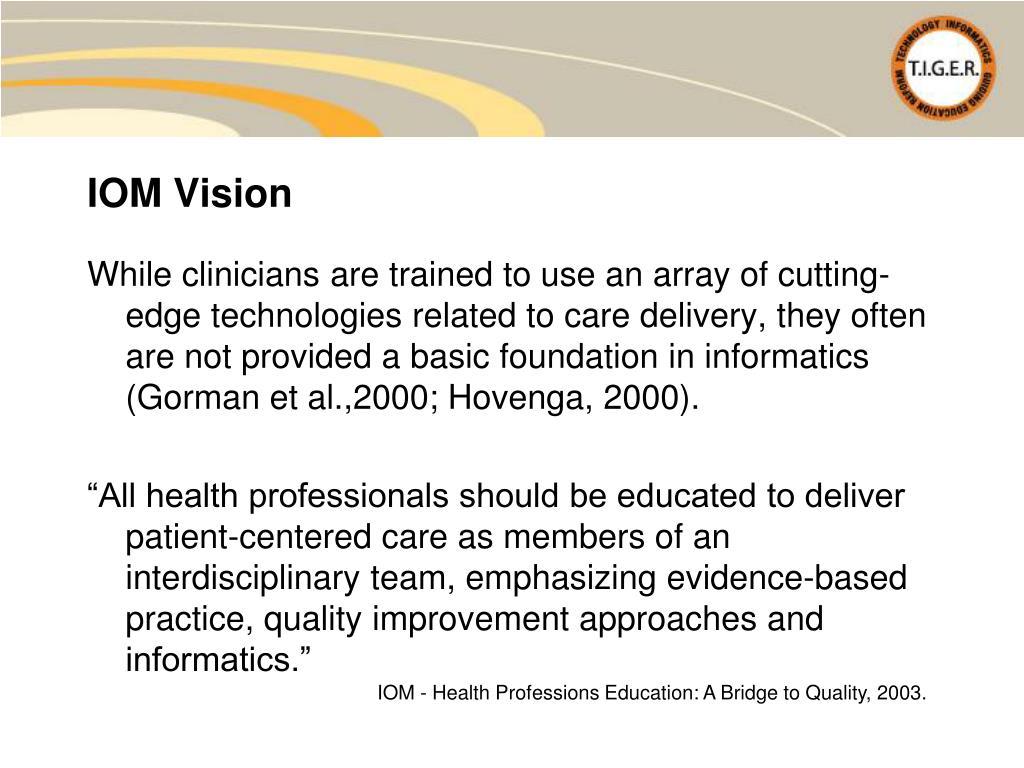 IOM Vision