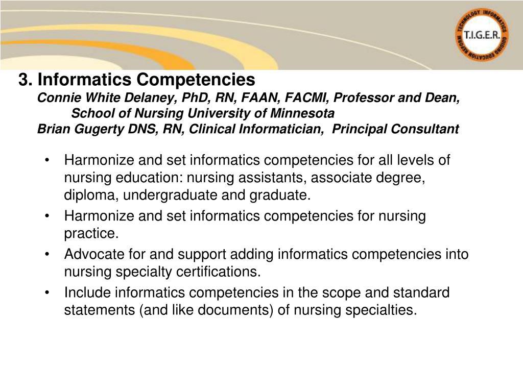 3. Informatics Competencies