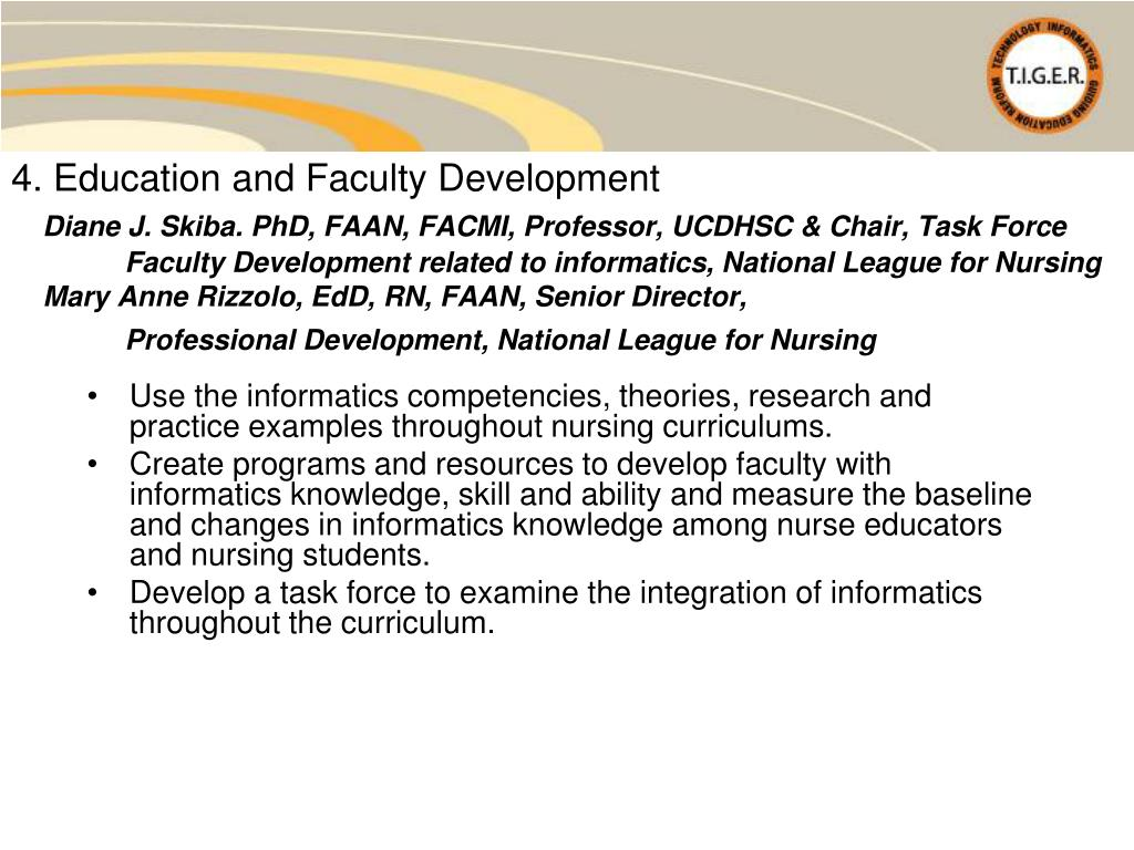 4. Education and Faculty Development