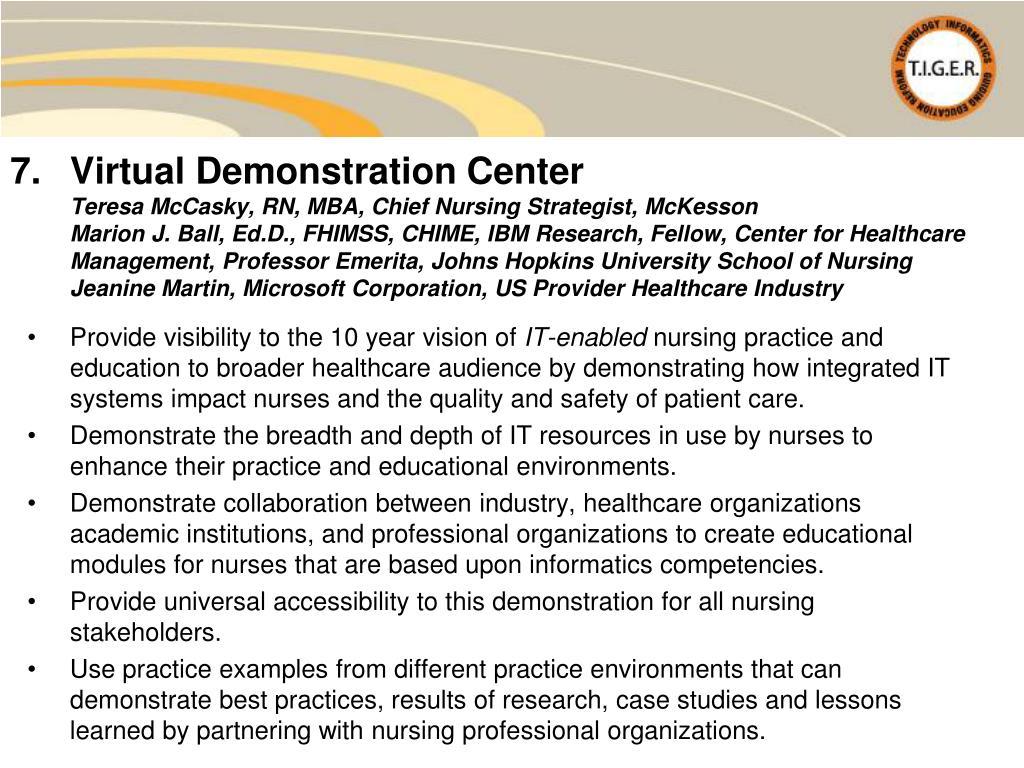 Virtual Demonstration Center