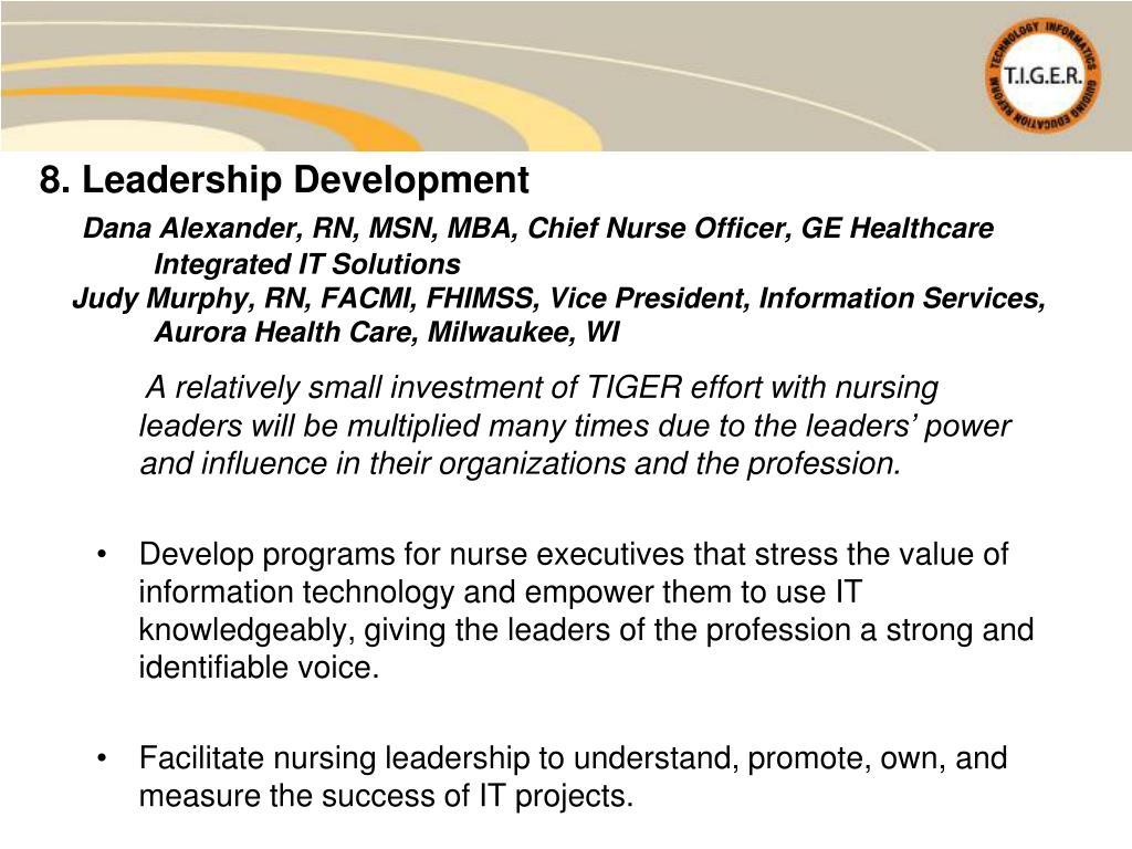 8. Leadership Development