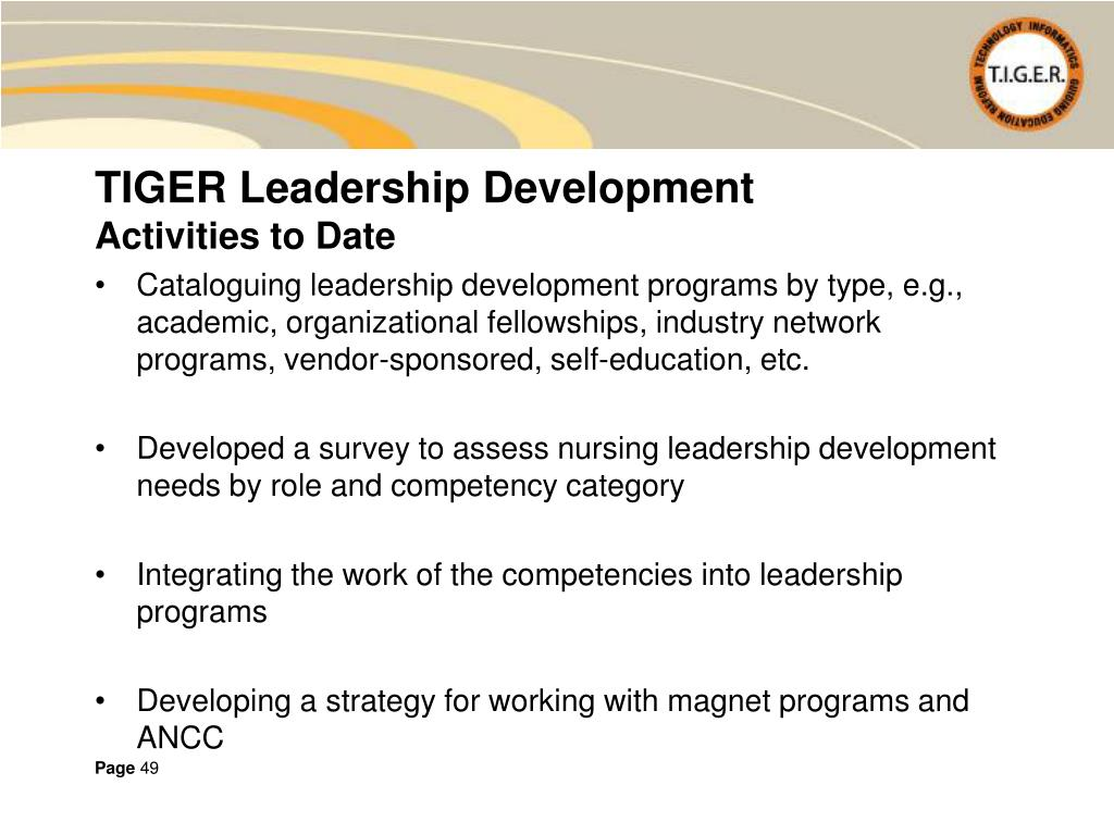 TIGER Leadership Development