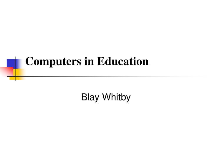 Computers in education