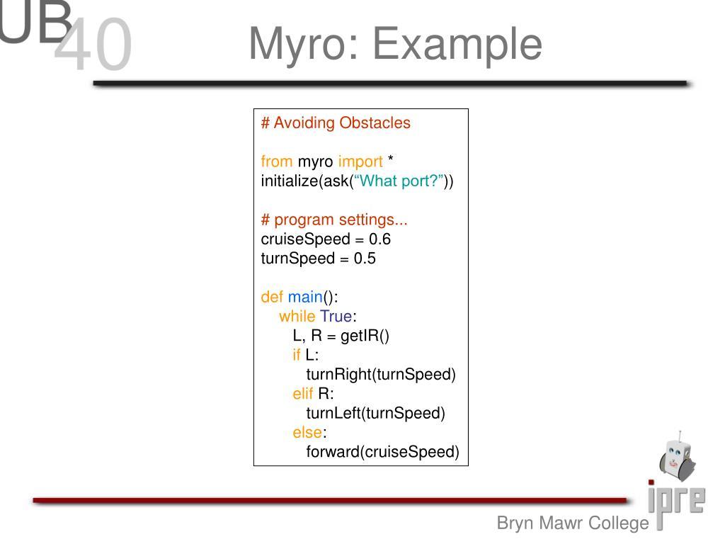 Myro: Example