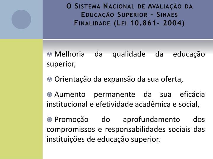 O Sistema Nacional de Avaliação da Educação Superior