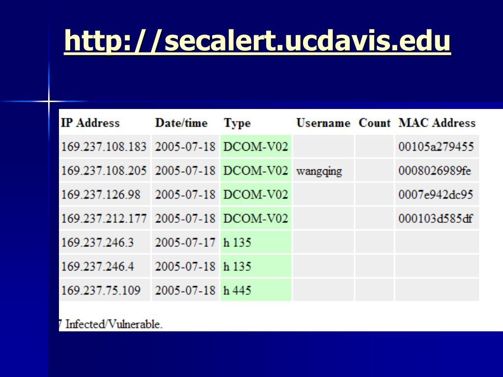 http://secalert.ucdavis.edu