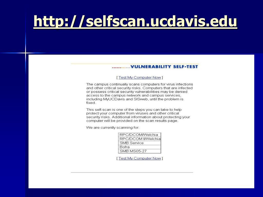 http://selfscan.ucdavis.edu