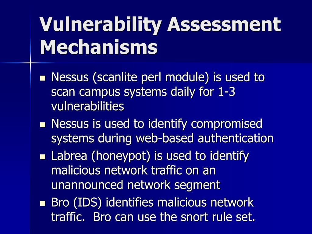 Vulnerability Assessment Mechanisms