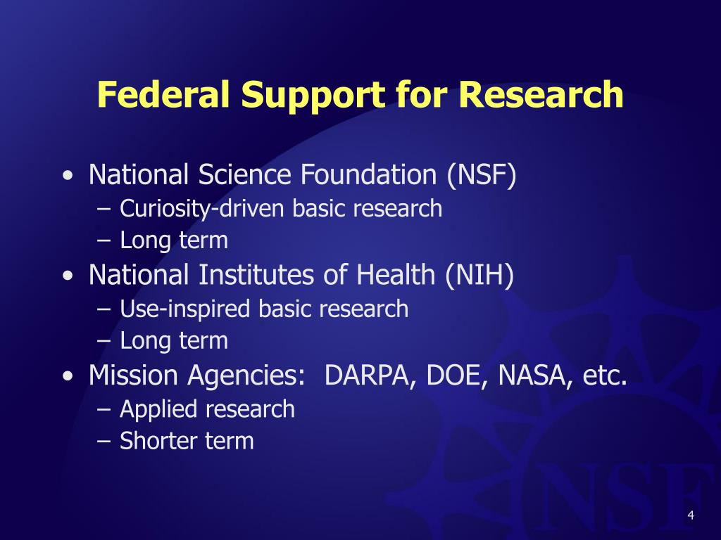 Federal Support for Research